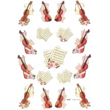Extra Large Sheet of Violin and Music Scraps ~ Foil Stamping ~ Holland