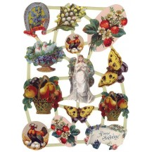Victorian Vignette and Fruit Scraps ~ Holland