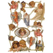 Mixed Beautiful Glittered Angels Scraps ~ Holland