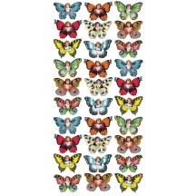 1 Sheet of Stickers Mixed Petite Butterfly Children