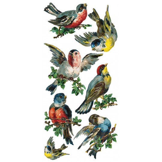 1 Sheet of Stickers Mixed Song Birds