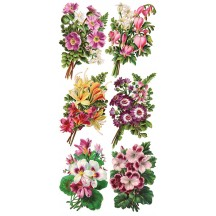 1 Sheet of Stickers Mixed Springtime Flower Bouquets