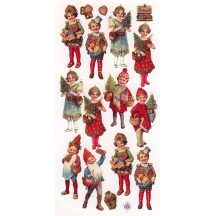 1 Sheet of Stickers Christmas Children and Gnomes