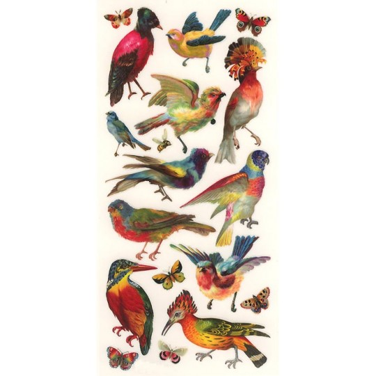 1 Sheet of Stickers Colorful Mixed Birds