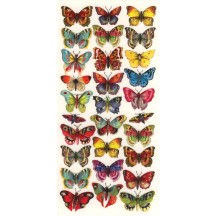 1 Sheet of Stickers Colorful Butterflies