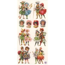 1 Sheet of Stickers Mixed Flower Children