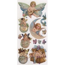 1 Sheet of Stickers Valentine Angels and Bubbles