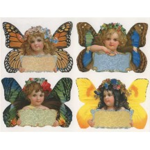1 Sheet of Stickers Fancy Butterfly Girl Labels