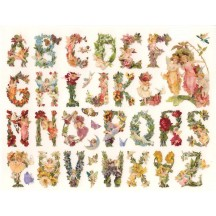 1 Sheet of Stickers Flower Fairies Alphabet