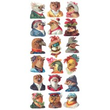 1 Sheet of Stickers Dapper and Fancy Birds
