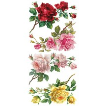 1 Sheet of Stickers Mixed Rose Branches