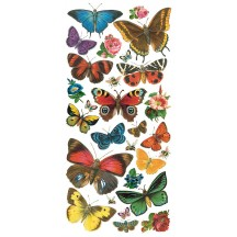 1 Sheet of Stickers Mixed Forest Butterflies