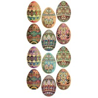 1 Sheet of Stickers Vintage Folkloric Easter Eggs