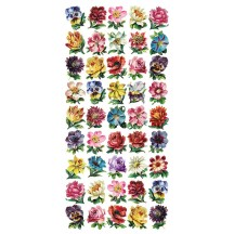 1 Sheet of Stickers Mixed Miniature Flowers