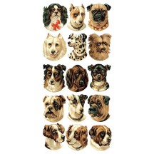 1 Sheet of Stickers Mixed Puppy Dogs