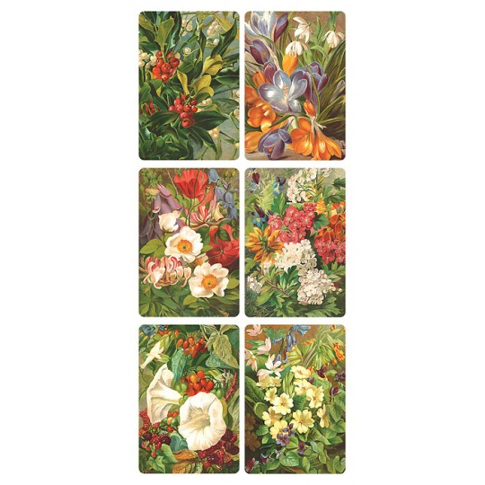 1 Sheet of Stickers Bold Flowers ~ Trade Card Style