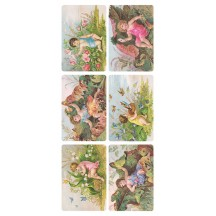 1 Sheet of Stickers Victorian Children in Nature ~ Trade Card Style