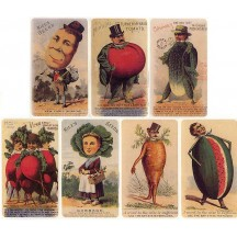 8 Assorted Vintage Vegetable Label Advertisement Stickers