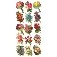 1 Sheet of Stickers Mixed Flower Bouquets