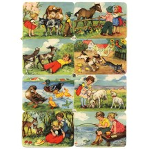 Vintage EAS Bavarian Children Scraps ~ Germany