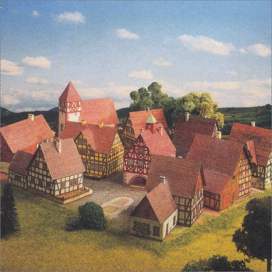 Petite Village with Half-Timbered Houses Paper Project Kit ~ Germany