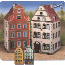 Two Petite Old Town Houses Paper Project Kit ~ Germany