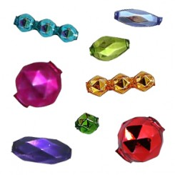 Faceted Blown Glass Beads