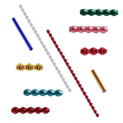Tube Beads, Spacers, Caps and Petite Specialty Shapes for Beaded Ornament Crafting