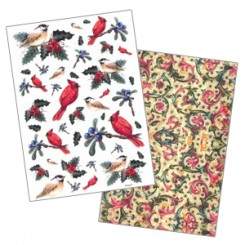Rice Paper Sheets with Vintage Images for Decoupage