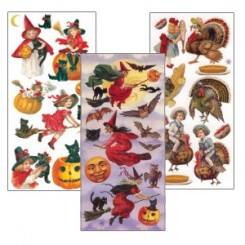 Stickers Featuring Halloween and Fall