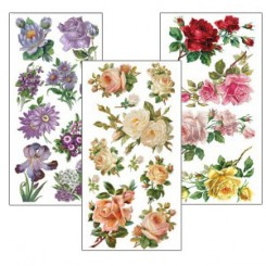 Stickers Featuring Roses and Flowers