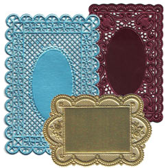 Fancy Dresden Foil Doilies and Cards