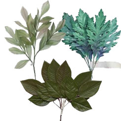 Fabric Millinery Leaves From Europe + Old Stock Botanical Leaf Bundles