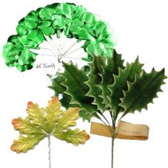 Foil, Lacquer + Paper Leaves