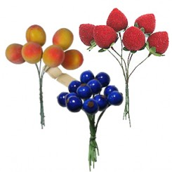Lacquered Fruit and Berries