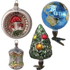 antique style blown glass ornaments - Blown Glass Christmas Ornaments