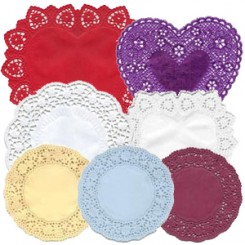 Paper Doilies for Making Valentines