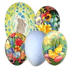 Floral, Patterned and DIY Papier Mache Eggs