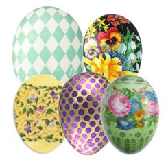 Floral, Patterned and DIY Papier Mache Eggs