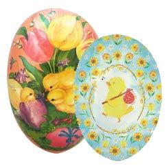 "Medium + Large Papier Mache Easter Eggs ~ 6"" to 7"""