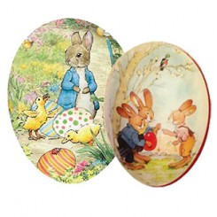 "Medium + Large Papier Mache Easter Eggs ~ 6"" to 7"""