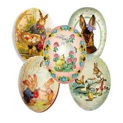 """Petite Papier Mache Egg Containers ~ 3-1/2"""""""