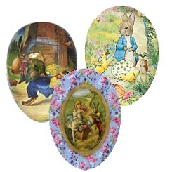 """Small Papier Mache Egg Containers ~ 4-1/2"""""""