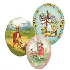 Papier Mache Eggs with Vintage + Victorian Images