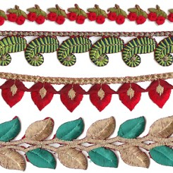 Embroidered Cutwork Costume Trims