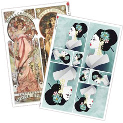 Art Nouveau, Deco and Costumed Women