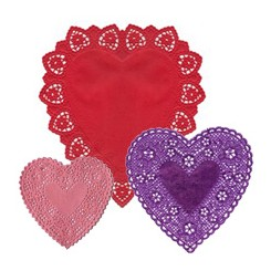 Heart Doilies for Making Valentines