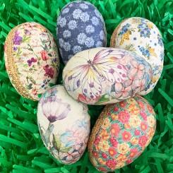 Decoupage Papier Mâché Easter Eggs