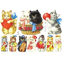 Small Musical Kitties Scraps ~ Germany