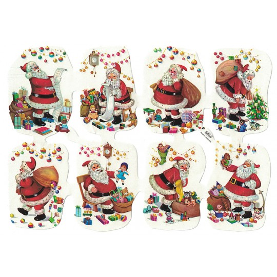 Santa with Toys Embossed Scraps